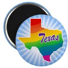 "Gay Pride Rainbow Texas 2.25"" Magnet (100 pack)"
