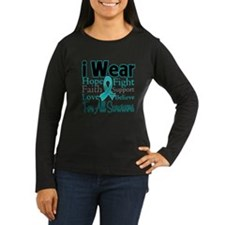 Teal Survivors Ovarian Cancer T-Shirt