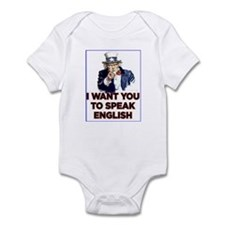 Cute Speak english Infant Bodysuit