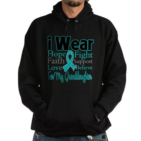 Granddaughter Ovarian Cancer Hoodie (dark)