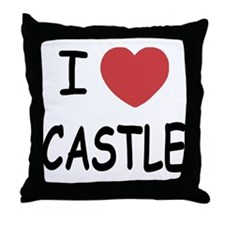 I heart Castle Throw Pillow