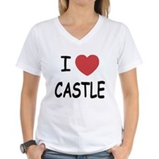 I heart Castle Women's V-Neck T-Shirt