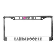 I Love My Labradoodle License Plate Frame