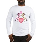 2 Rearing Horses / Hearts Long Sleeve T-Shirt