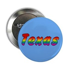 "Rainbow Texas Text 2.25"" Button (10 pack)"