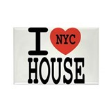 I Love NYC House Rectangle Magnet