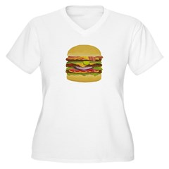 Cheeseburger king Women's Plus Size V-Neck T-Shirt