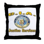 B.I.A. Justice Services Throw Pillow