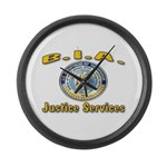 B.I.A. Justice Services Large Wall Clock