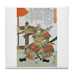 Samurai Warrior Imagawa Yoshimoto Tile Coaster