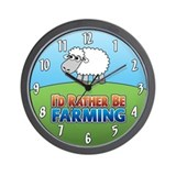 Cartoon Farmville Sheep Wall Clock