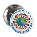 One people One planet Baha'i 2.25&quot; Button (100 pac