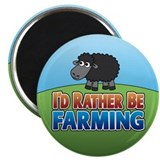 Cartoon Farmville Sheep Magnet
