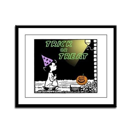 Trick or Treat Framed Panel Print