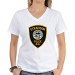 Stratham NH Police Women's V-Neck T-Shirt