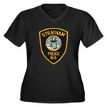 Stratham NH Police Women's Plus Size V-Neck Dark T