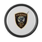 Stratham NH Police Large Wall Clock