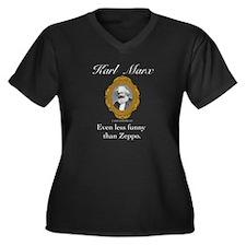 Karl Marx Women's Plus Size V-Neck Dark T-Shirt