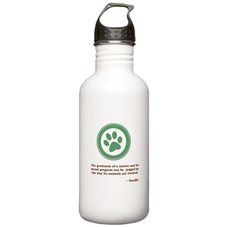 Gandhi Green Paw Stainless Water Bottle 1.0L