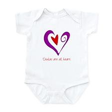 Doulas All Heart Purple Infant Bodysuit