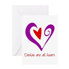 Doulas All Heart Purple Greeting Card