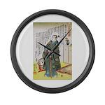 Warrior Takenaka Hanbee Shigeharu Large Wall Clock