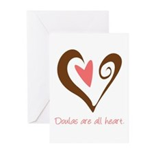 Doulas All Heart Brown Greeting Cards (Pk of 10)