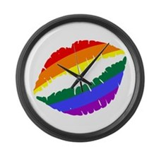 Rainbow Kiss Large Wall Clock