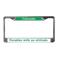 Cute Mountains License Plate Frame