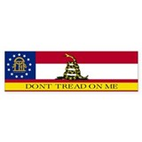 Dont Tread on Me Georgia Flag Bumper Sticker