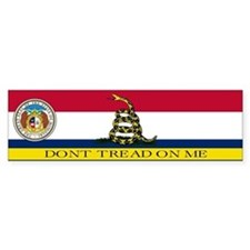 Dont Tread on Me Missouri Bumper Sticker