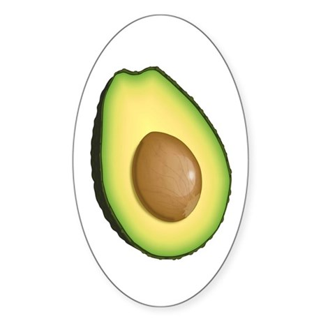 Avocado Sticker (Oval)