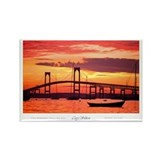 Newport Bridge Rectangle Magnet (10 pack)