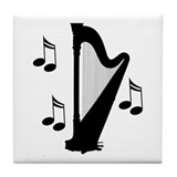 Musical Harp Tile Coaster