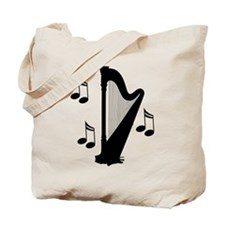Musical Harp Tote Bag