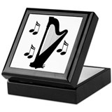 Musical Harp Keepsake Box