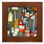 Lobster Trap Buoys (1) Framed Tile