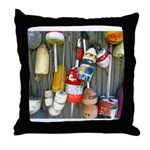 Lobster Trap Buoys (1) Throw Pillow
