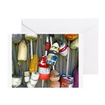 Lobster Trap Buoys (1) Greeting Card