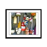 Lobster Trap Buoys (1) Framed Panel Print