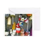 Lobster Trap Buoys (1) Greeting Cards (Pk of 10)