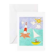 Sunny Sailing Dog Greeting Card