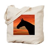 Horse Sunset Portrait Tote Bag