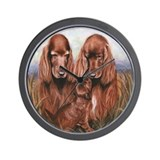 Irish Setter Wall Clock