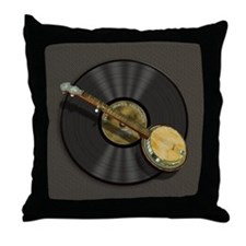 Banjo Music Throw Pillow