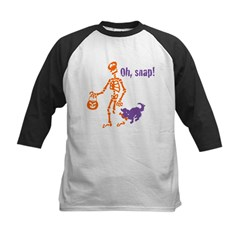 Oh, Snap Skeleton Kids Baseball Jersey