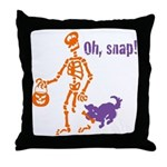 Oh, Snap Skeleton Throw Pillow