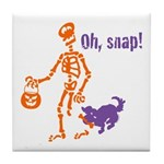 Oh, Snap Skeleton Tile Coaster