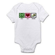 Peace Love Avocado Infant Bodysuit