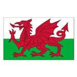 Welsh Flag Sticker (Rectangle)